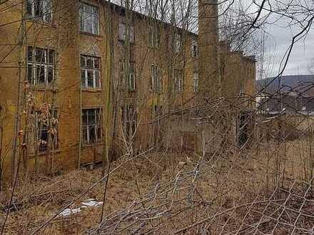 Grundstück mit ehemaligem Fabrikgebäude