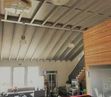 Moderner attraktiver Ausstellungs/Büroraum neben Traditionsbetrieb Ammann mit großer Außenfläche