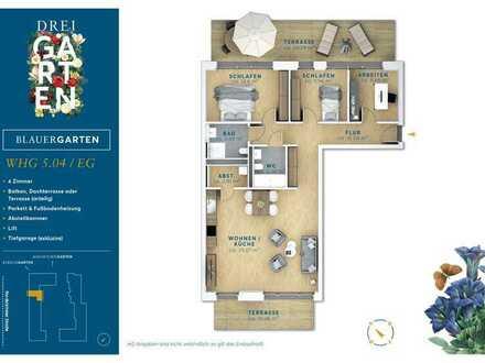Ein Erdgeschosstraum! 4 Zimmer mit Terrasse im exkl. Neubau.