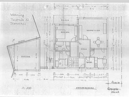 Attraktive 4-Zimmer-Parterre-Wohnung mit Balkon und Stellplatz in Dienethal