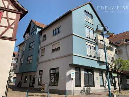 Schöne 2 ZKB in der Stadtmitte Hockenheims mit Loggia/Einbauküche/TG-Platz