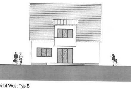 2-Familienhaus Neubau schlüsselfertig mit Rasen und Zaun 1a Wohnlage