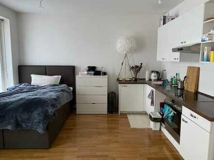Möblierte 1-Zimmer-Wohnung mit Einbauküche in den Nymphenburger Höfen, München-Maxvorstadt