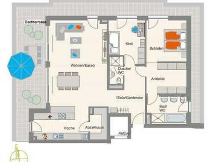 Traumhafte 3,5-Zimmer-Penthouse-Wohnung mit herrlicher Westterrasse