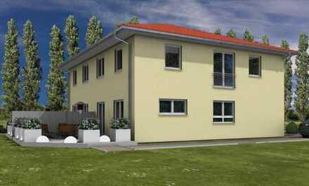 Neubau einer Doppelhaushälfte in Eberswalde Britz.