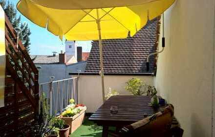 Vohburg Zentrum, top- 2-Zi. Dachgeschoßwohnung mit 2 Studiozimmer und Dachterrasse