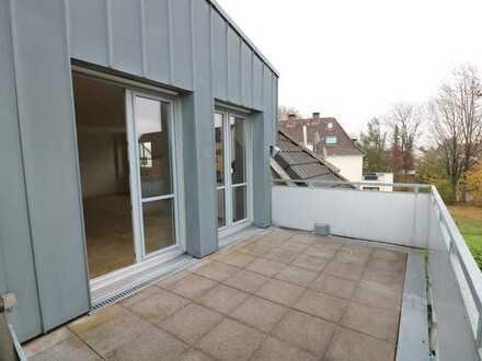 Helle und geräumige 2-Zimmer-ETW mit großer Dachterrasse und TG-Stellplatz