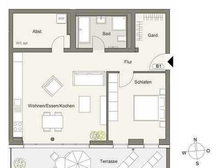 Neubau - 2,5 Z. Apartment mit Südbalkon