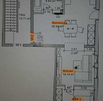 Erstbezug: ansprechende 2,5-Zimmer-Erdgeschosswohnung zur Miete in Karlshuld