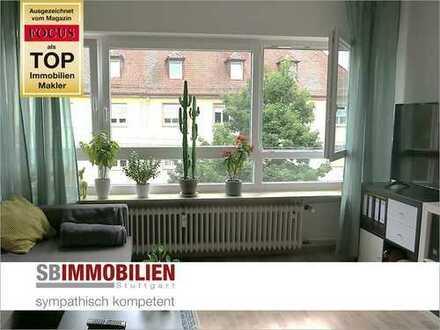 Selbstbezug oder Vermietung in S-West! Gepflegte 1-Zimmer-Wohnung mit Balkon und Blick ins Grüne!