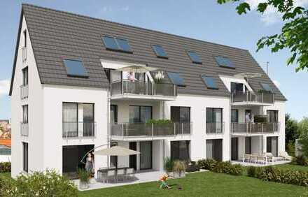 4-Zimmer-Wohnung mit Terrasse und Gartenanteil im EG