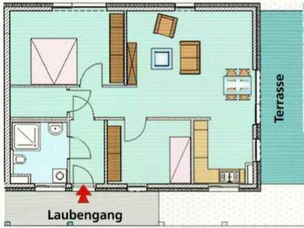 3-Zimmer Penthouse mit großer Terrasse: Betreutes Wohnen in Karlsruhe Blankenloch