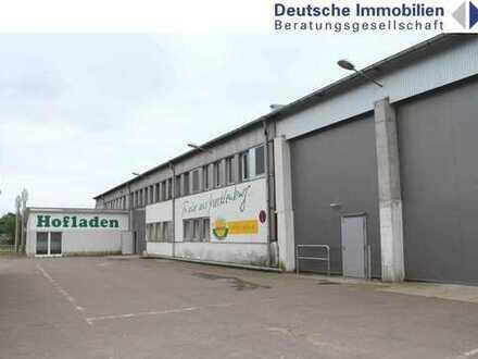 47.000 m² großes Grundstück mit Produktions-, Lager- und Werkstatthallen