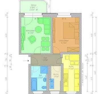 Neu saniert mit Wohnküche, Balkon, Wanne + Dusche und Abstellraum