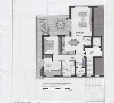 Super-3-Zimmer-Neubauwohnung (Penthouse)