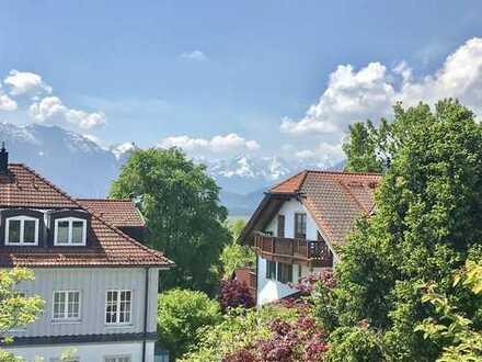Bestlage Murnau: großzügige Wohnung auf zwei Ebenen mit phantastischem Bergpanorama!
