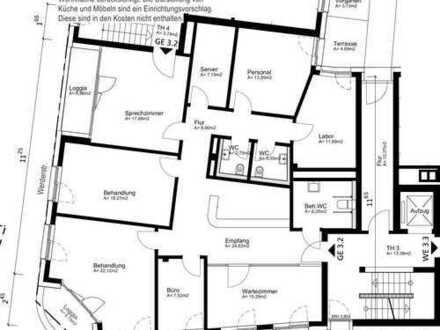 170 m²-Praxis im 1.OG in Baugemeinschaft frei!