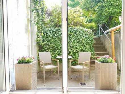 2 Zimmer mit Terrasse, voll möbliert