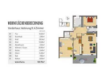 4 Zimmerwohnung mit großem Balkon (provisionsfrei)