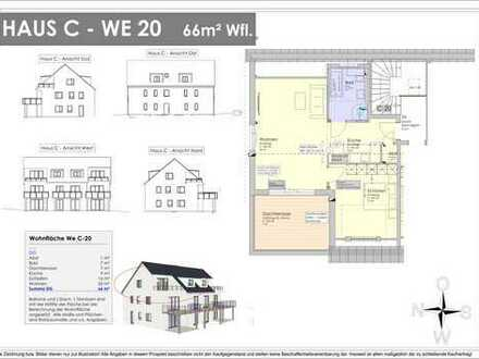 NEUBAU - 65m² Galeriewohnung mit 14m² Dachterrasse - Provisionsfrei ! (C20)