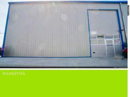 Neuwertige Halle mit Büro-Empore in Industriegebiet von Eggenstein-Leopoldshafen