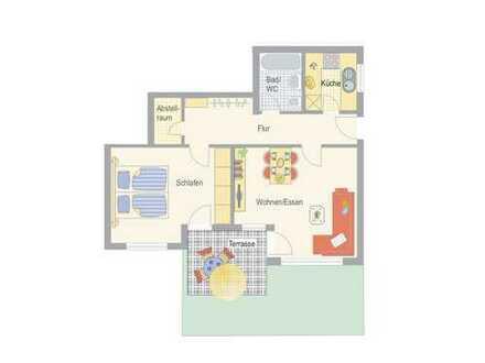 Individuelle 2-Zimmer-Wohnung
