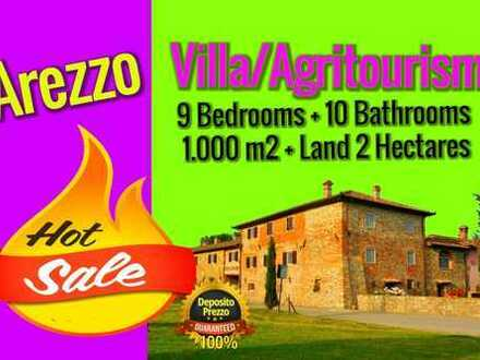 Toskana Sansepolcro Villa 1000 m²