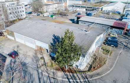 Gewerbehalle im Industriegebiet Freiburg Nord