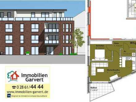 Vermietung - Erstbezug! 2-Zimmerwohnung mit Balkon im 2. Obergeschoss in stadtnaher Lage von Borken