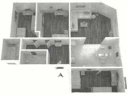 Schicke 4 Zi-Wohnung mit offener Küche (EBK möglich) - auch WG