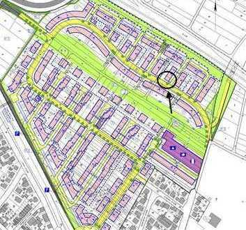 Baugrundstück im Neubaugebiet Offenbach Bieber-Nord für Reihen-Endhaus und PKW Abstellplatz