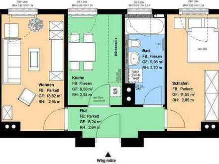 Obersendling*2 Zimmer*Wohnküche mit EBK*Bad mit Badewanne*Parkett*