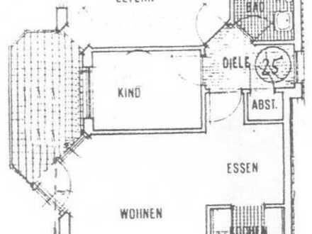 Sonnige 3 Zimmer Wohnung Nähe Schloßpark mit Blick auf Lindenallee