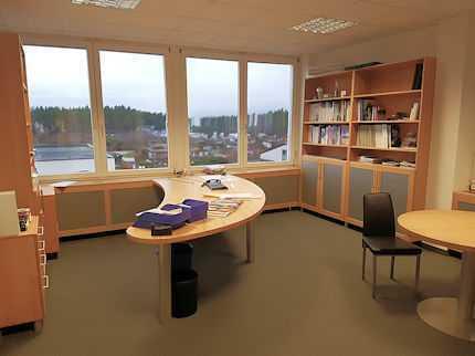 Büro- und Servicegebäude mit Halle einzelnstehend in Schwaig