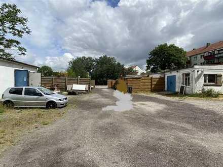 4.036 m² Gewerbegrundstück bebaut mit 5 Garagen und 5 Werkstattgebäuden