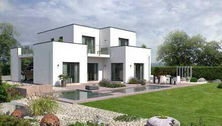 Puristisches Traumhaus in kubistischer Bauweise in ruhiger Lage mit Fernblick