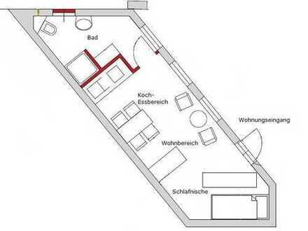 Versteckt im Hinterhof - Appartement in ruhiger Lage