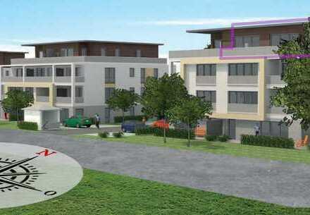 Erstbezug: Gehobene Penthouse-Wohnung im Neubau + Einbauküche, teilmöbliert und 54m² Dachterrasse