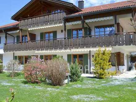 Garmisch: Gesamtes Erdgeschoss, 4-Zimmer-Wohnung in ruhiger, sonniger Bestlage!