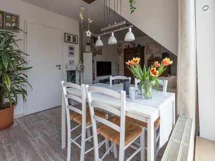 Gepflegte 2-Zimmer-Maisonette-Wohnung mit Balkon und Einbauküche in Bonn/Beuel (Pützchen)