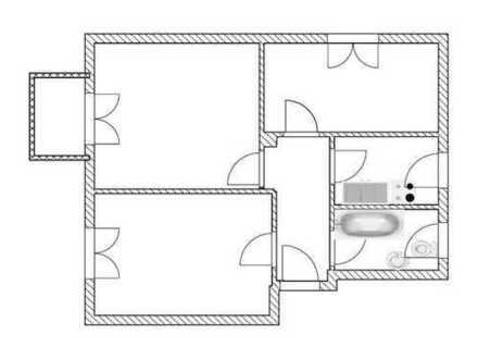 3-Raum-Wohnung mit Balkon, E-Herd und Spüle sofern gewünscht