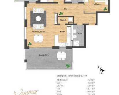 Schickes 3-Zimmer-Penthaus mit 2 Loggien und 2 Bädern im Neubau Hatz-Areal - Das Tor zur Innenstadt