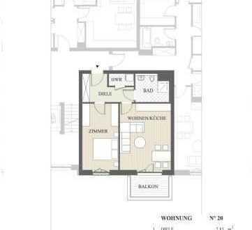 Gemütliches Apartment mit Balkon und bodentiefen Fenstern