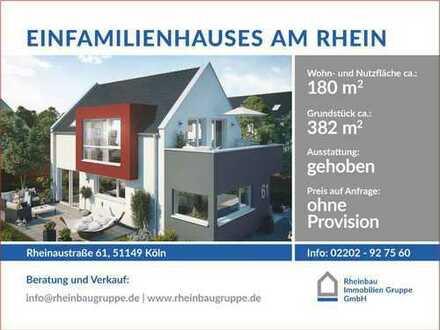 # Ein freistehendes Einfamilienhaus direkt am Rhein # Baubeginn ist erfolgt #