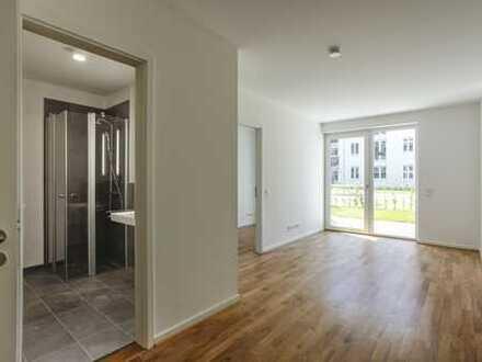 Stilvoll Wohnen: Ankleide | Bodenheizung | Außenjalousien | Wanne & Dusche | Einbauküche | Terrasse
