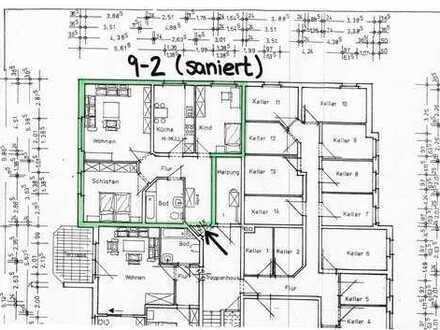 NEUER PREIS! Erstbezug nach Sanierung! 3-Zimmer-Wohnung mit Terrasse