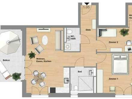 Schlüchtern-SeniorenWohnen: 3 Zimmer-Wohnung mit Balkon im Erstbezug - TYP 85