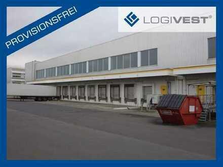 Moderne Lagerhallen mit Kommissionier-Bühnen in der Nähe der A3