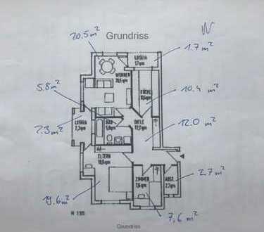 Schöne 3-Raum-Wohnung mit EBK und zwei Balkonen in Bonn Hardberg