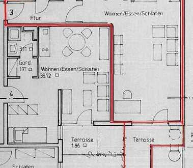 1-Zimmer-Appartement in zentraler Lage/Stadtmitte